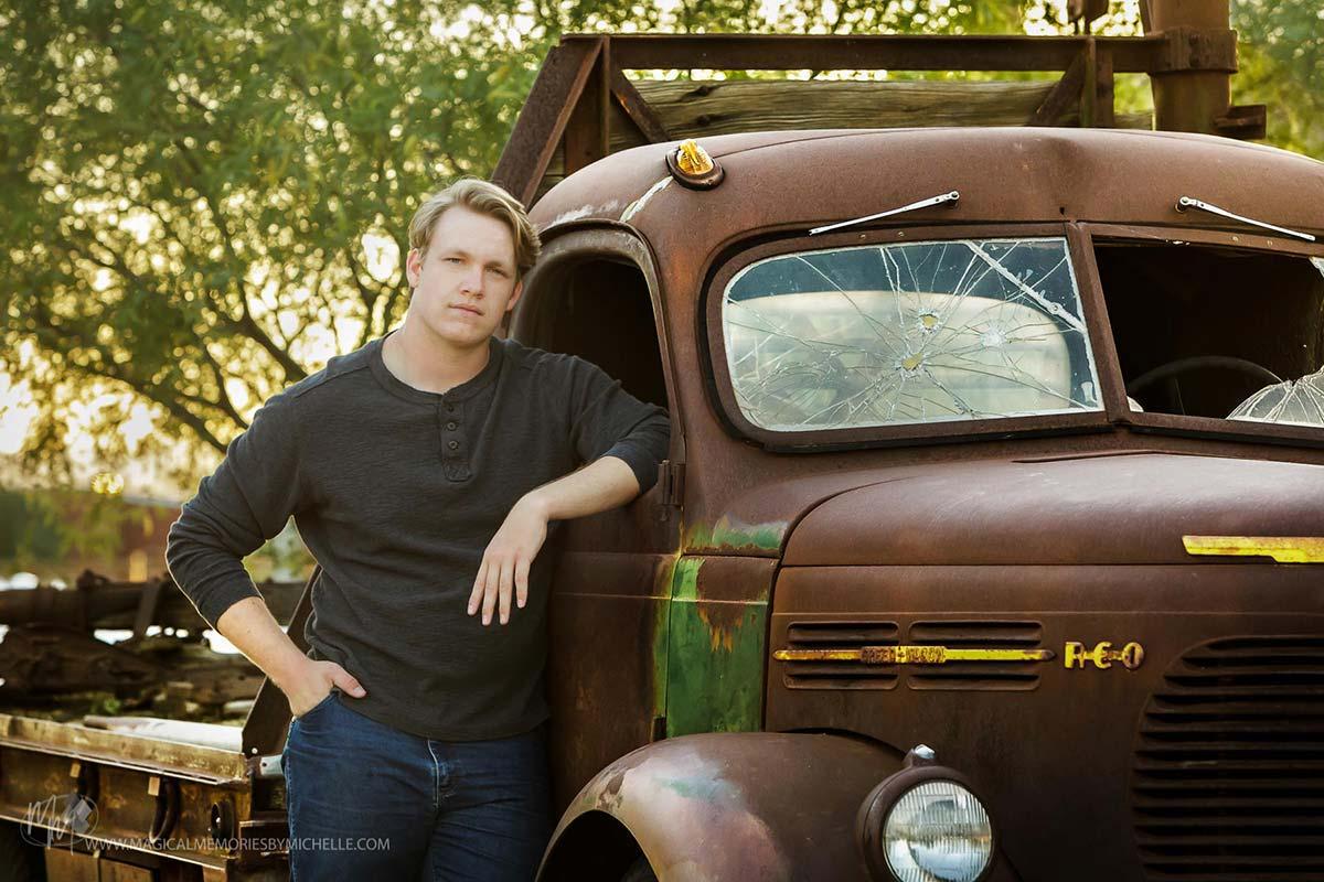 Professional Senior Portraits Guys Trucks