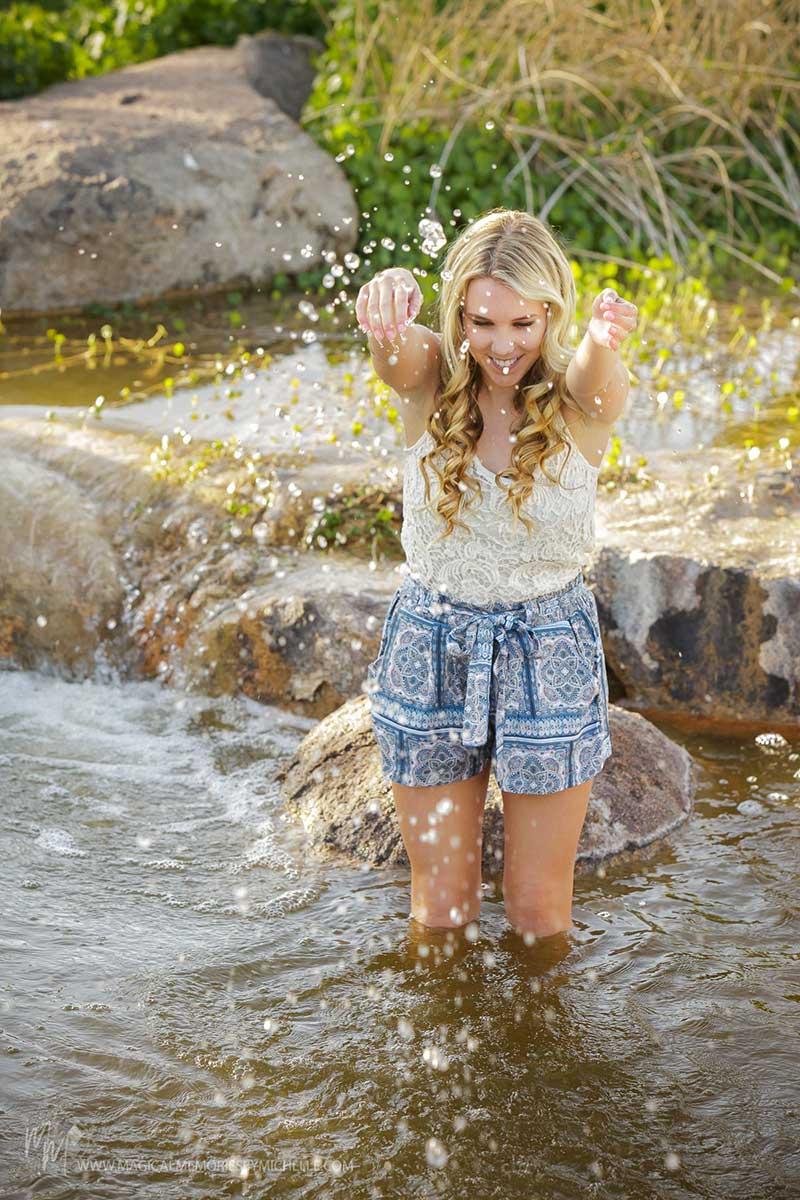 Scottsdale Senior Photographer Girl in Water