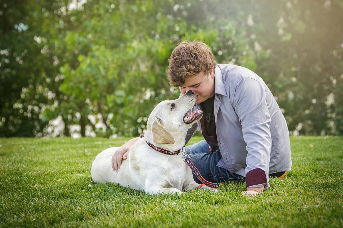 Mesa senior portraits with dog