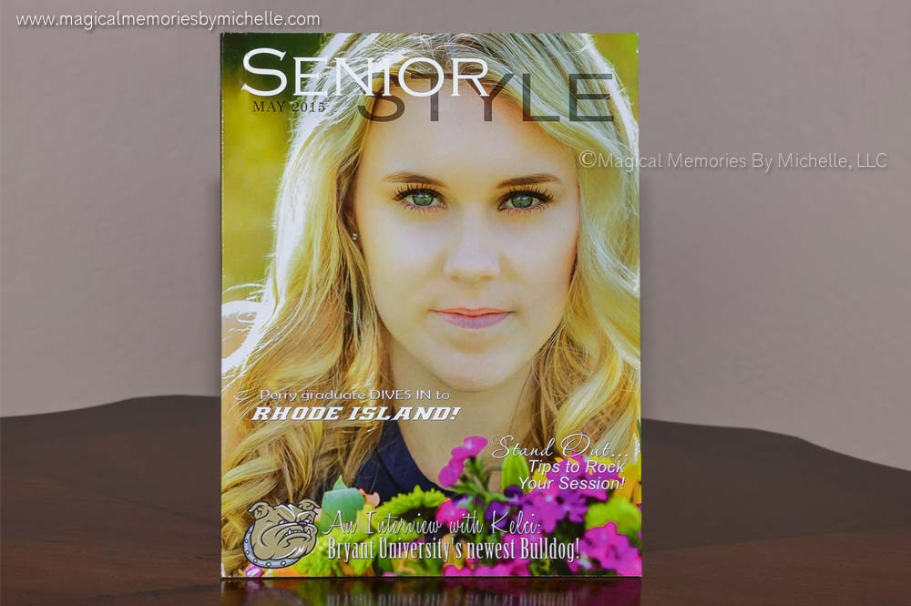 Senior magazine keepsake for Chandler senior portraits