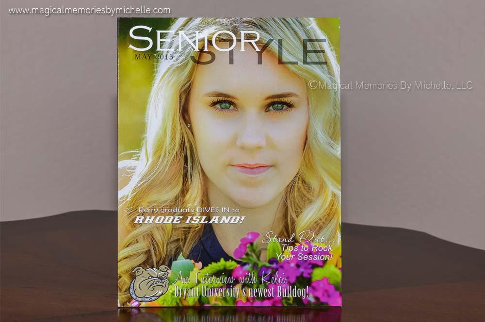 Senior magazine keepsake for Chandler senior portraits