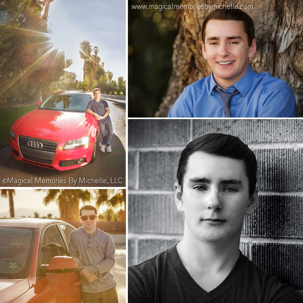 Tempe senior photographer includes cars for guys' senior pictures