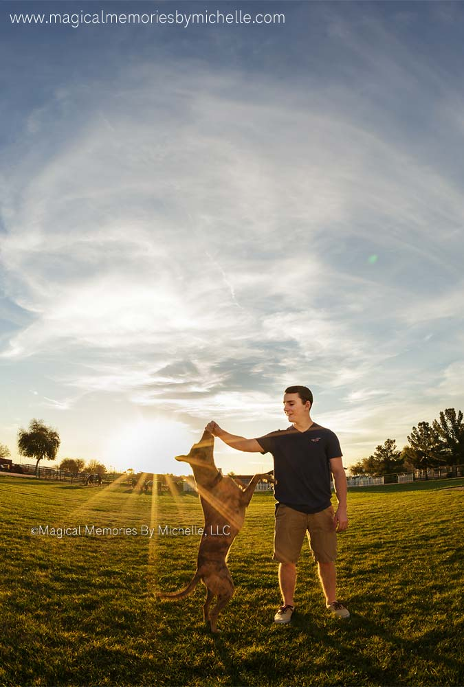 Using sunset for senior pictures