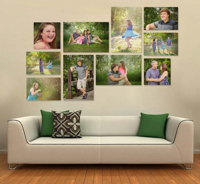 Mesa senior photographer creates wall display for family pictures