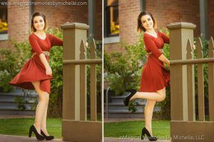 Phoenix Senior Photographer takes senior pictures for girls in Downtown Phoenix.