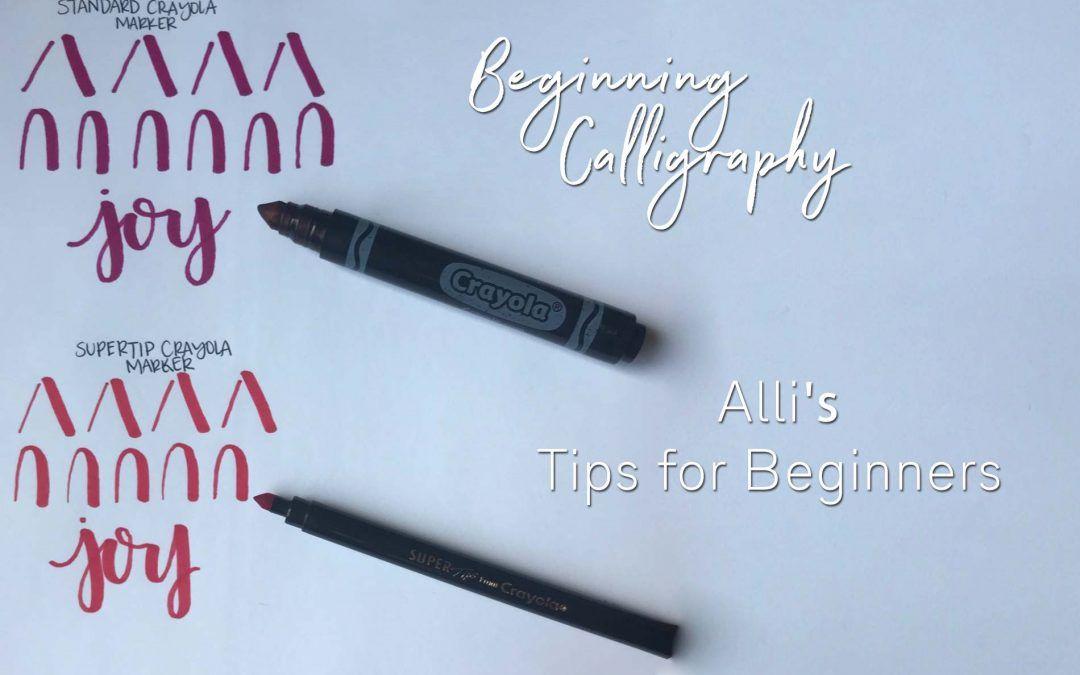 Calligraphy Tips for Beginners! | Mesa Senior Photographer
