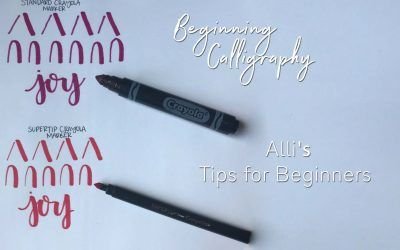 Calligraphy Tips for Beginners! | Mesa Senior Photographer