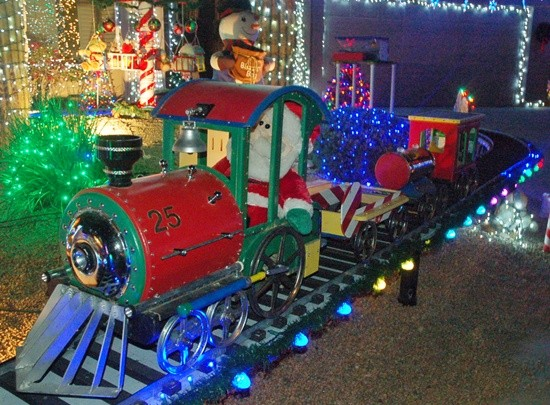 Santa Train Light Display