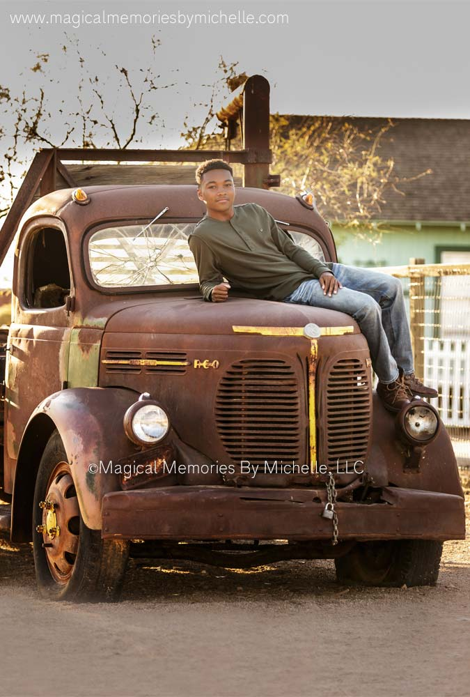 Chandler Senior Photos Old Truck