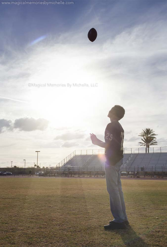 Professional Senior Portraits Football Player Basha Stadium