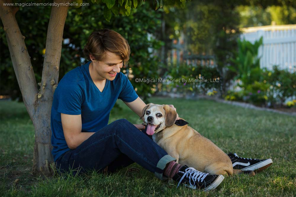 Male Senior Pictures With Your Dog