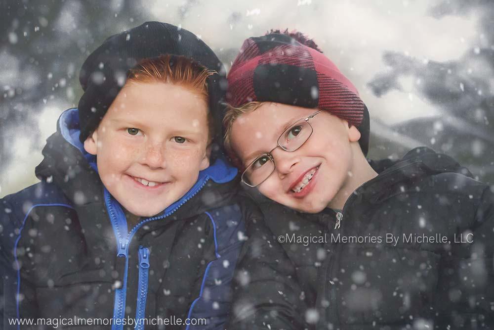 Family Pictures Snow Gilbert, AZ
